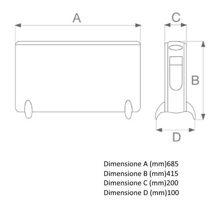 Vortice Pannelli e griglie in acciaio verniciato - Caldore' R - 70211