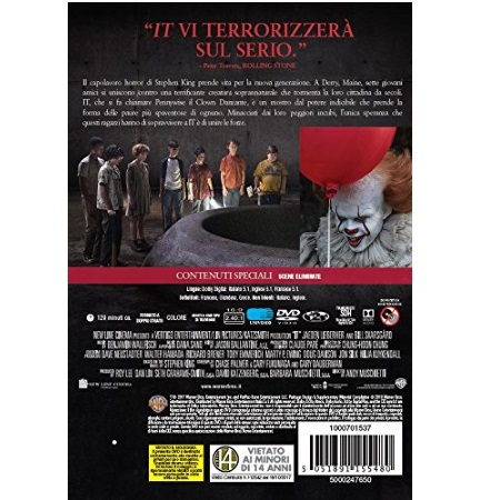 Warner Bros GenereHorror - Dvd - It (2017)
