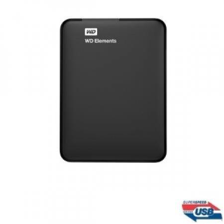 WESTERN DIGITAL HDD Esterno portatile - ELEMENTS 2TB - WDBU6Y0020BBK