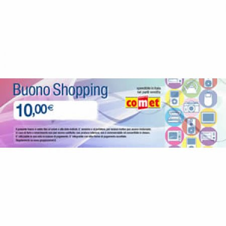 CARTA COMET  - BUONO SHOPPING 10