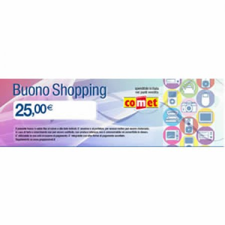 CARTA COMET Buono shopping da 25 euro - BUONO SHOPPING 25