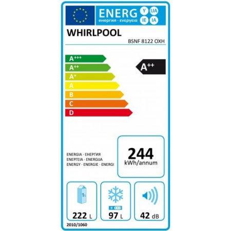 Whirlpool Frigo combinato 2 porteno frost - Bsnf8122oxh