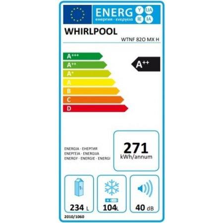 Whirlpool Frigo combinato 2 porte no frost - Wtnf 82o Mx H