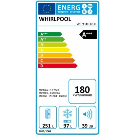 Whirlpool Frigo combinato 2 porte no frost - W9 931d Ks H