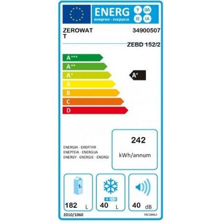 Zerowatt Frigo 2p incasso - Zebd1522