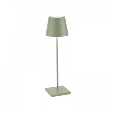 Zafferano Poldina Pro Salvia IP54 Lampada da tavolo ricaricabile - Ld0340g3