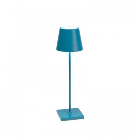 Zafferano Poldina Pro Blu IP54 Lampada da tavolo ricaricabile - Ld0340a3